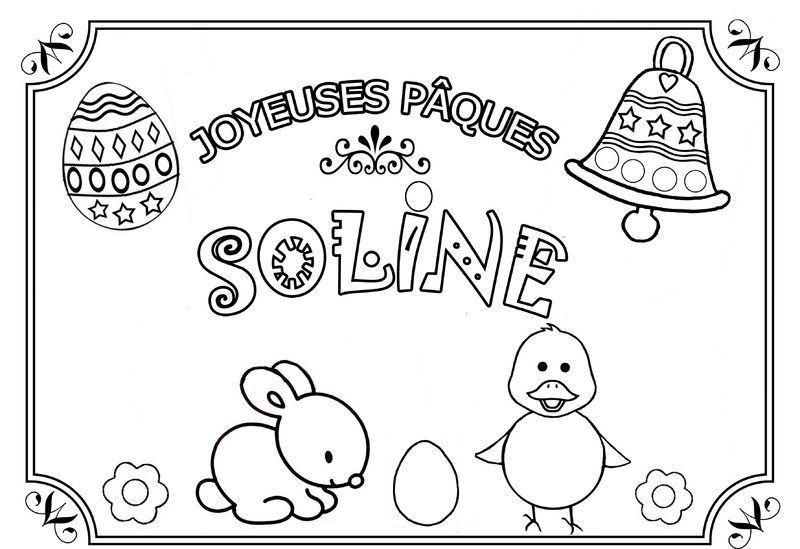Coloriage paques prenom - Prenom dessin ...