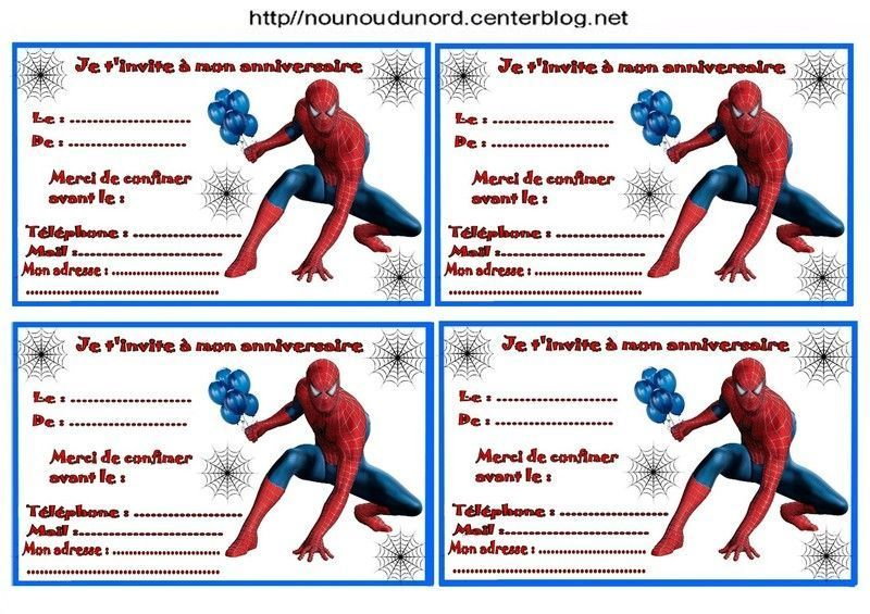 Spiderman Birthday Invite as amazing invitation example