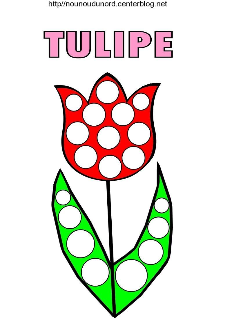 Coloriage fleurs nature - Dessin de tulipe a imprimer ...