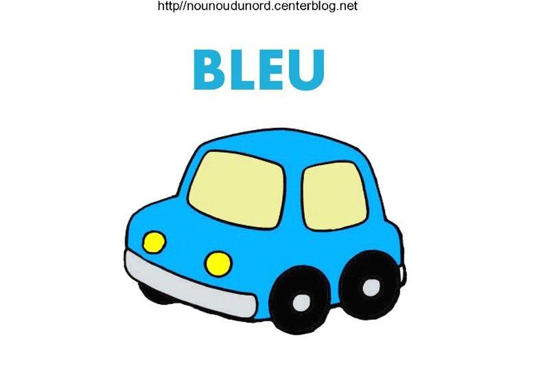 Voiture colorier gommettes en couleur - Couleur bleu ou bleue ...