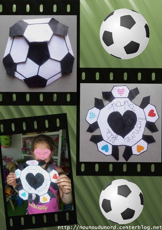 carte ballon de foot pour la f te des p res d 39 axelle. Black Bedroom Furniture Sets. Home Design Ideas