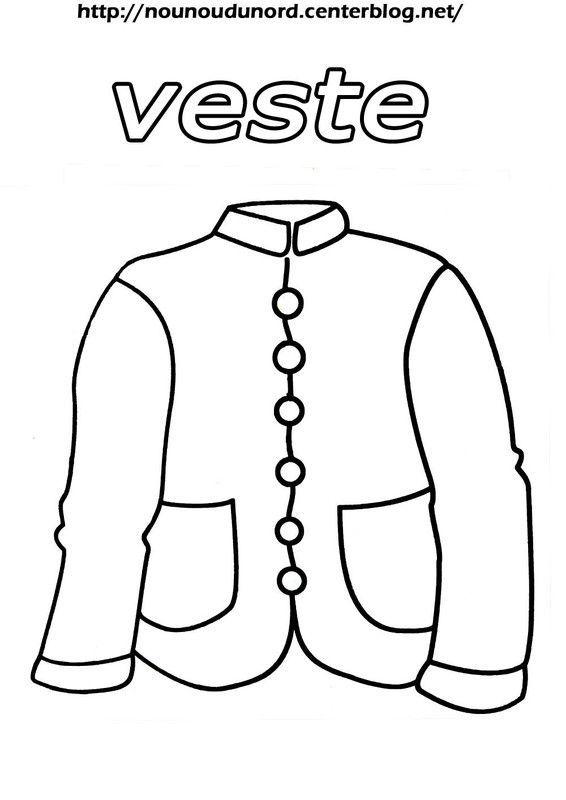 Coloriage vetement accessoire - Dessin de manteau ...