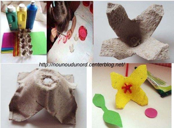 Fetes des meres page 9 - Comment faire des fleurs avec des boites a oeufs ...