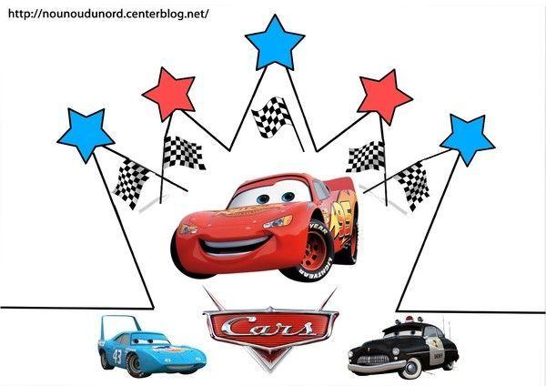 Couronnes cars et winnie en couleur colorier - Image de cars a colorier ...