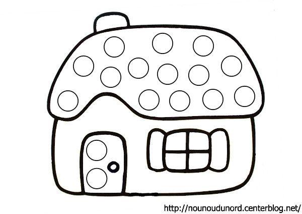 Relativ à gommettes la maison dessiné par nounoudunord. TG65