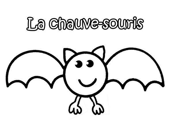 coloriage halloween chauve souris. Black Bedroom Furniture Sets. Home Design Ideas