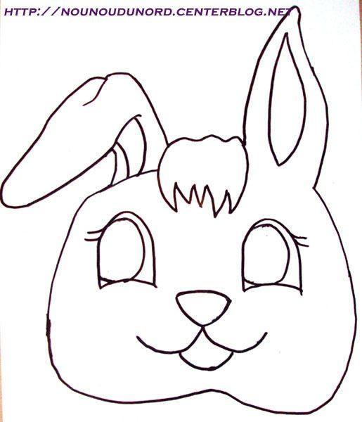tête lapin en papier