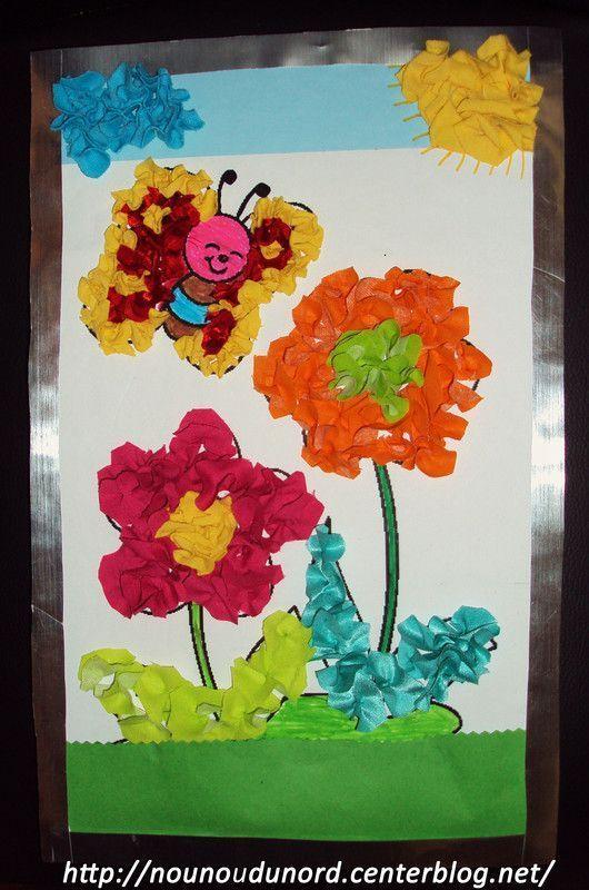 Tableau que j 39 ai r alis moi m me pour le plaisir 2010 - Fleurs printemps maternelle ...