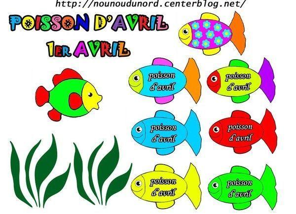 Gommettes poissons d 39 avril - Poisson d avril a imprimer gratuit ...