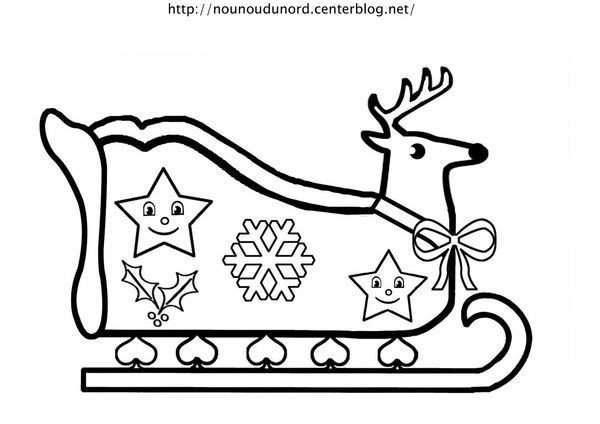 coloriage de noel traineau. Black Bedroom Furniture Sets. Home Design Ideas