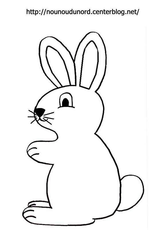 Coloriage paques lapin - Dessin de paques facile ...