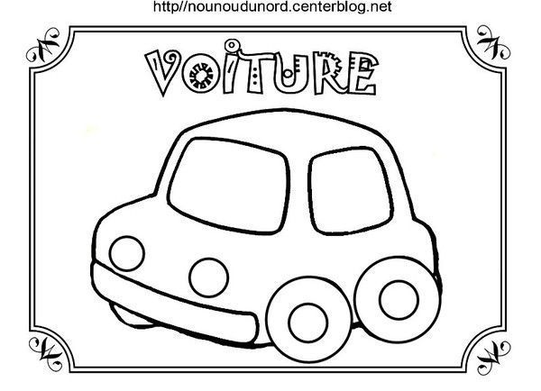 Coloriage Clown Voiture.Coloriage Voiture Dessine Par Nounoudunord