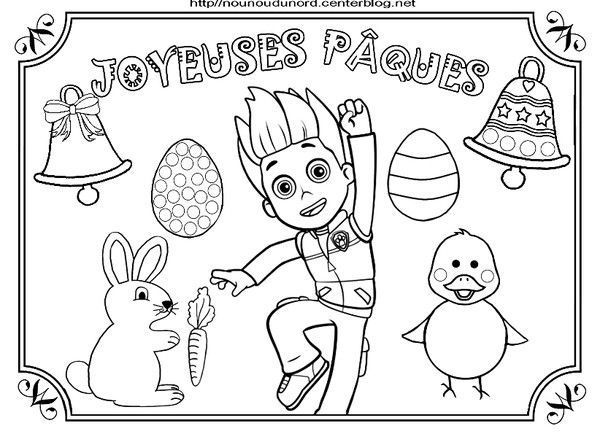 Coloriage paques heros des enfants - Pat patrouille coloriage ...