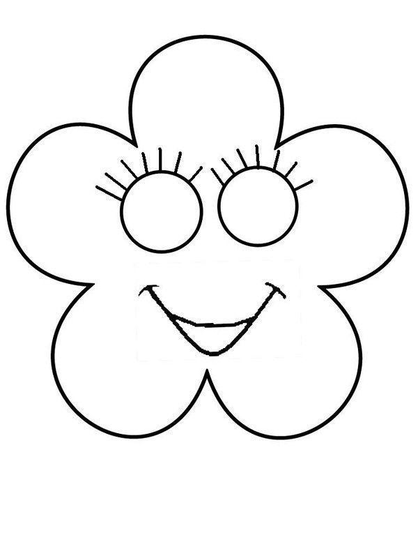 Masque fleur imprimer - Fleur a colorier et a decouper ...