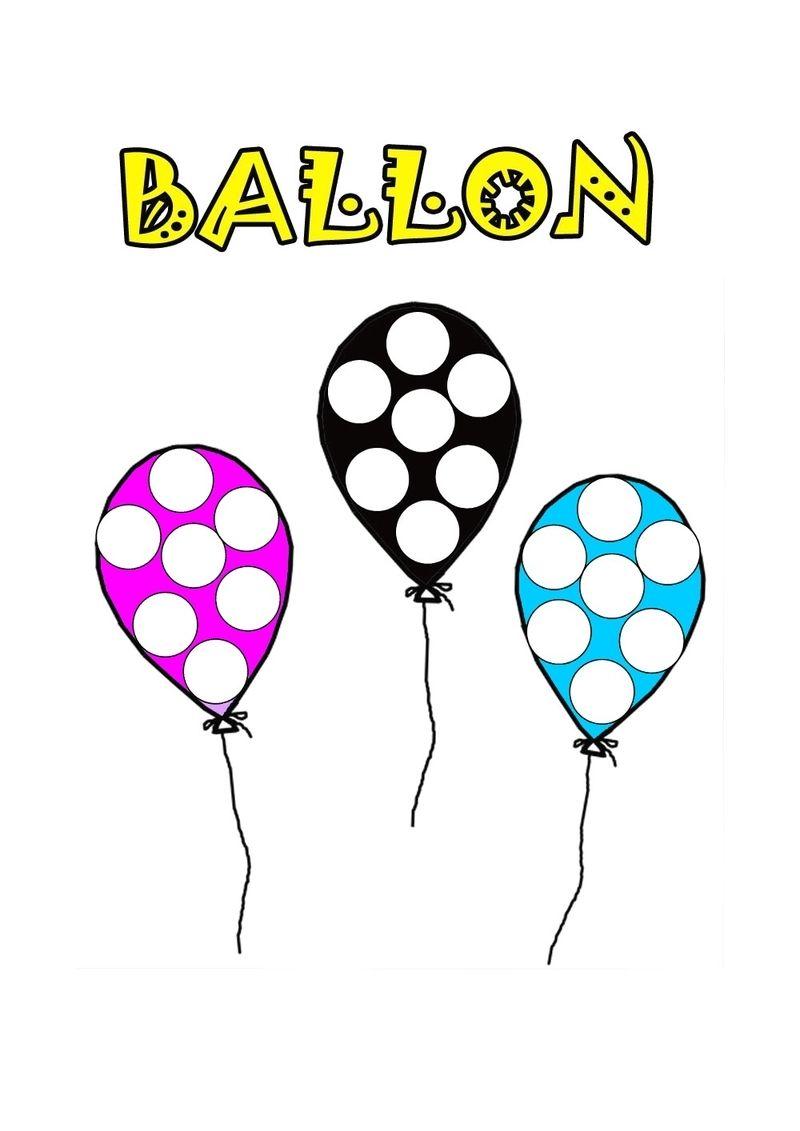 Coloriage ballon gommettes dessin par nounoudunord - Dessin de ballon ...