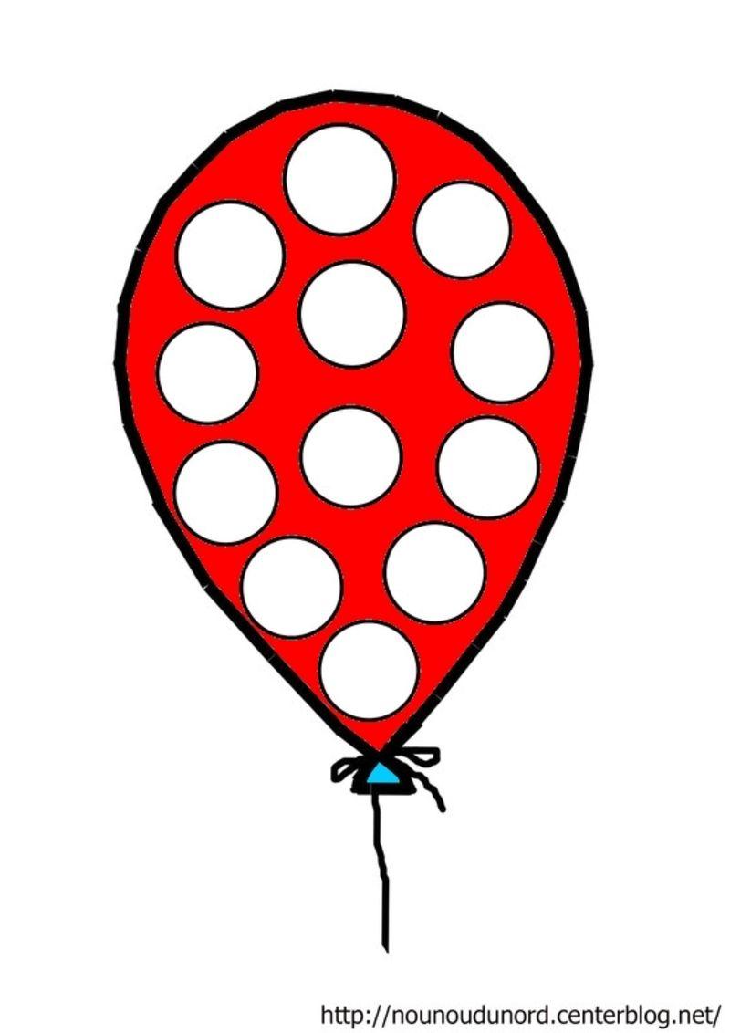 ballon rouge gommettes