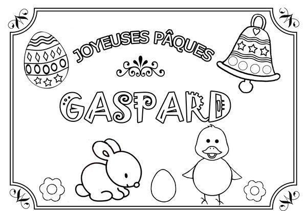 Coloriage De Paques Personnalise.Coloriages De Paques Avec Les Prenoms Des Enfants