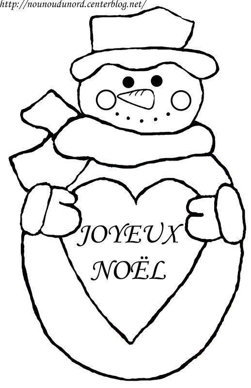 Coloriage noel bonhomme de neige - Dessin theme noel ...