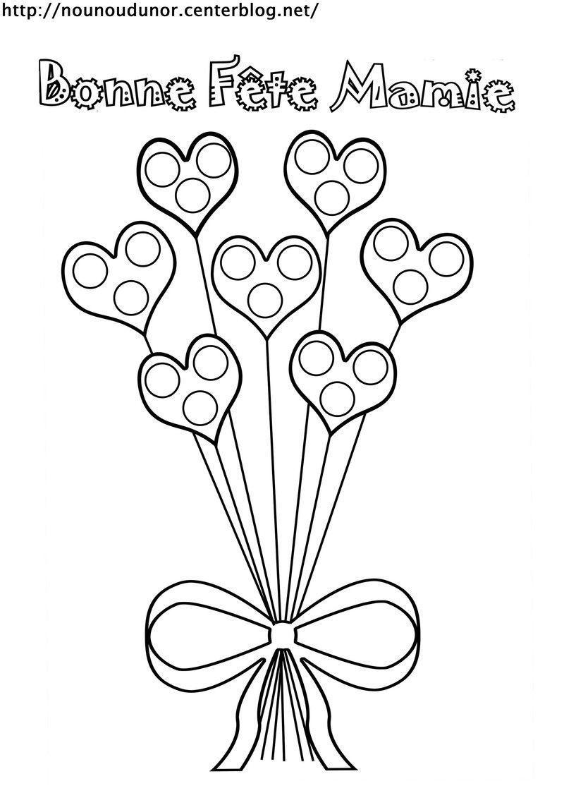 bouquet de coeurs vase avec fleurs pour la f te des mamies. Black Bedroom Furniture Sets. Home Design Ideas