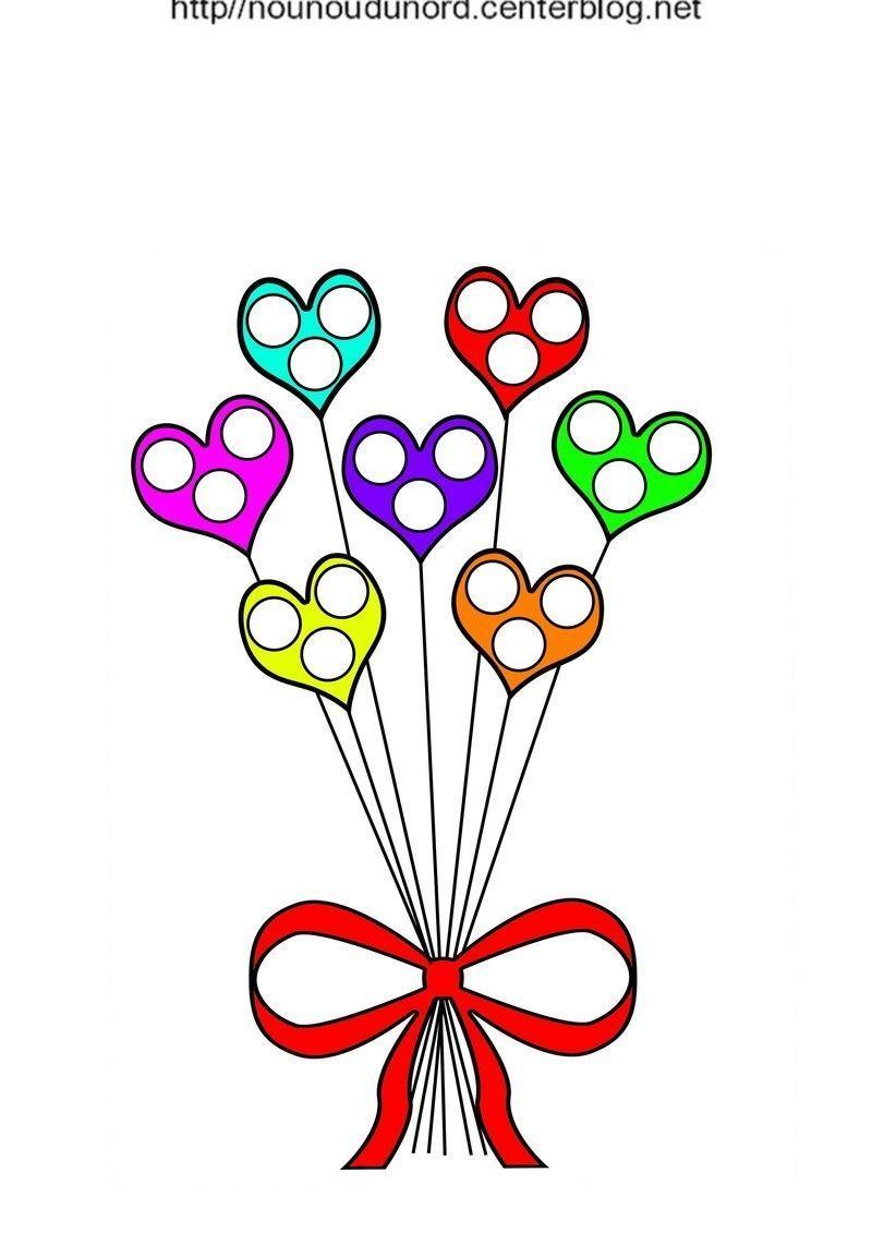 Coloriage De Coeur En Couleur.Coloriage Gratuit De C Urs De Fleurs Imprimer Et Colorier Dessin