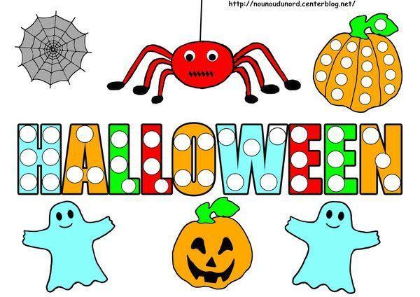 Gommettes halloween page 2 - Citrouille halloween dessin couleur ...