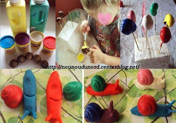 escargots de couleur en p 226 te 224 modeler r 233 alis 233 s par lison