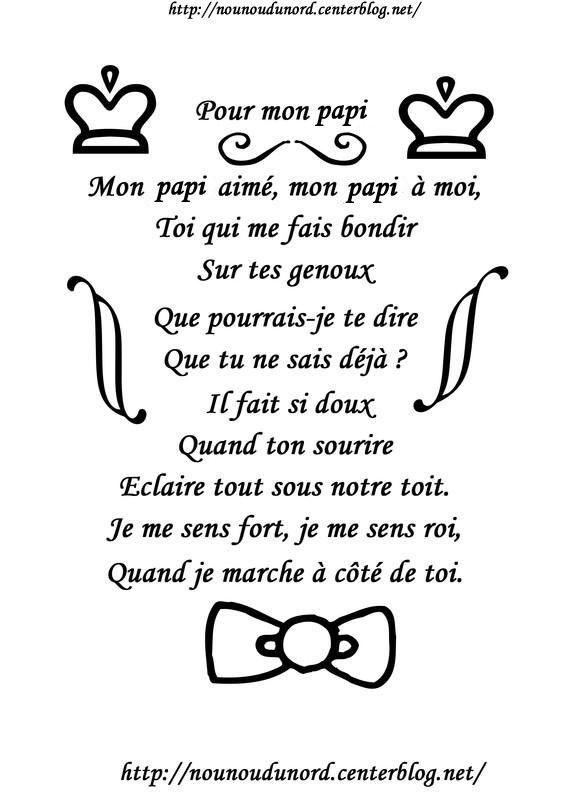 Poème pour la fête des papis