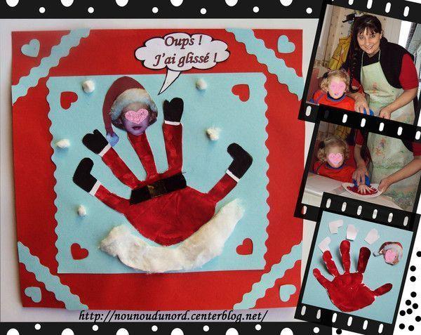 L'empreinte de Soline tranformée  en père Noël.