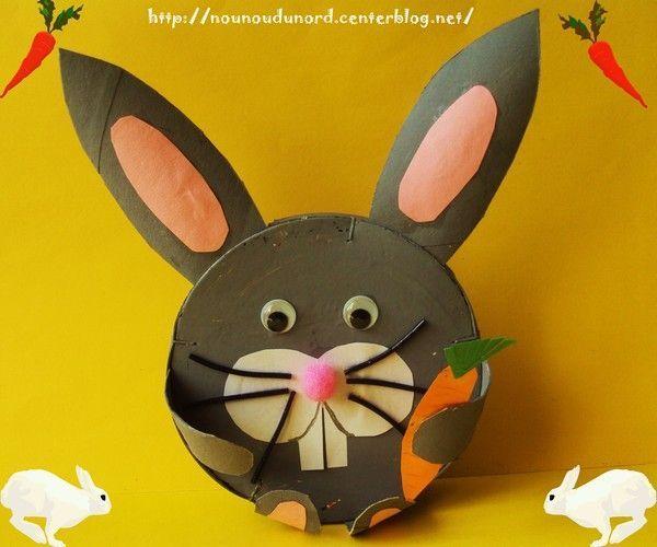 Lapin de p ques r alis avec une bo te de camembert 2011 - Bricolage lapin de paques ...