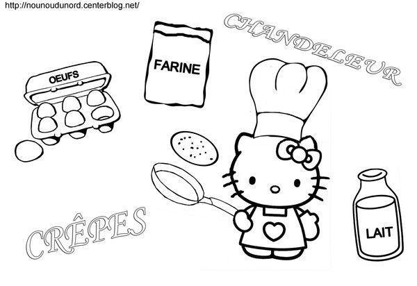 Coloriage chandeleur hello kitty dessin par nounoudunord - Coloriage hello kitty et la licorne ...