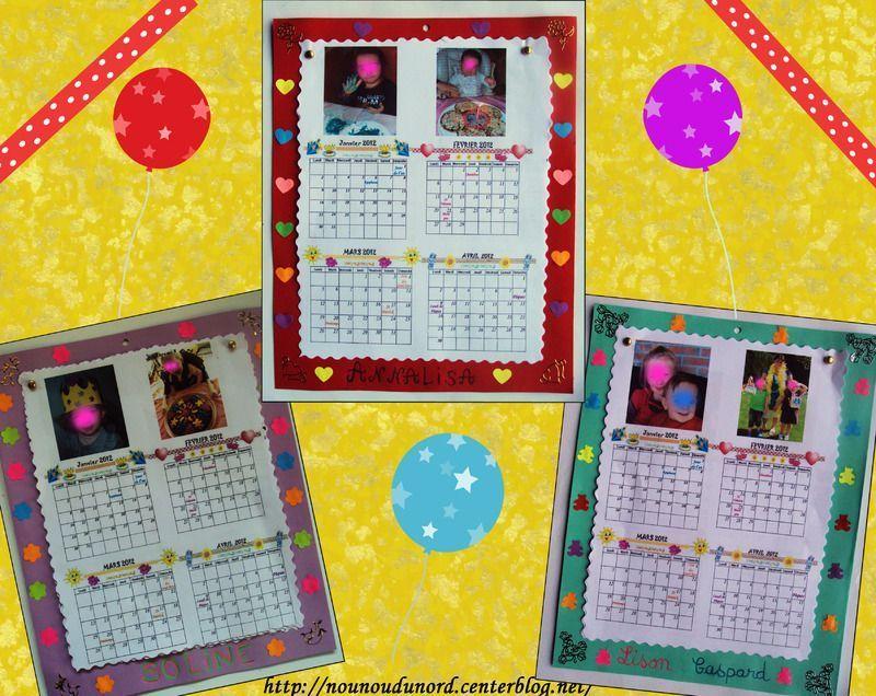 Calendrier 2012 que j 39 ai r alis pour offrir aux parents - Activite manuelle de noel calendrier de l avent ...