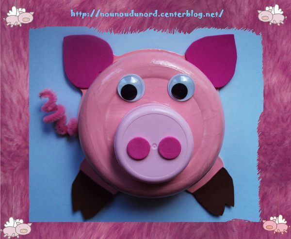Lison a réalisé un cochon tout mignon