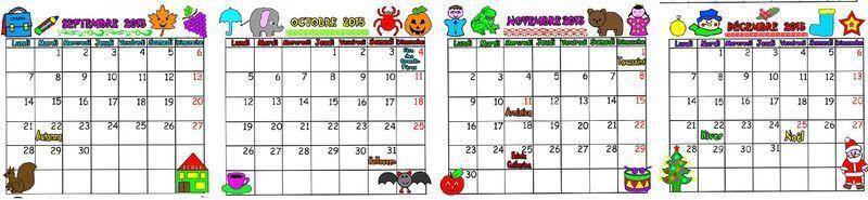calendrier a imprimer maternelle