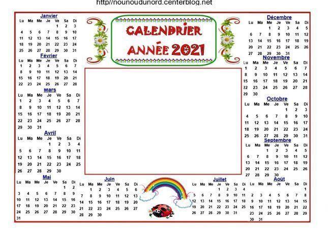 CALENDRIER 2021, CALENDRIER DE NOEL ET DE L'AVENT