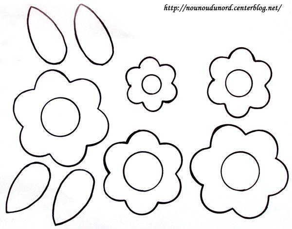 Coloriage fleurs pour r aliser un bouquet - Coloriage fleur nounou du nord ...