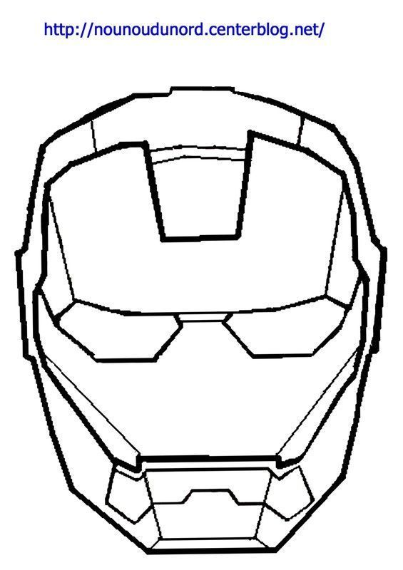 Coloriage Iron Man Dessine Par Nounoudunord