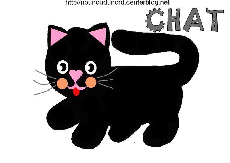 Coloriage halloween chat - Dessin chat noir ...