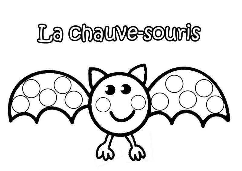Coloriage Halloween Chauve Souris