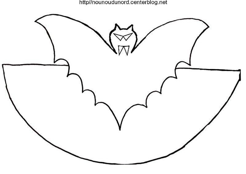Coloriage halloween chauve souris - Masque chauve souris a imprimer ...