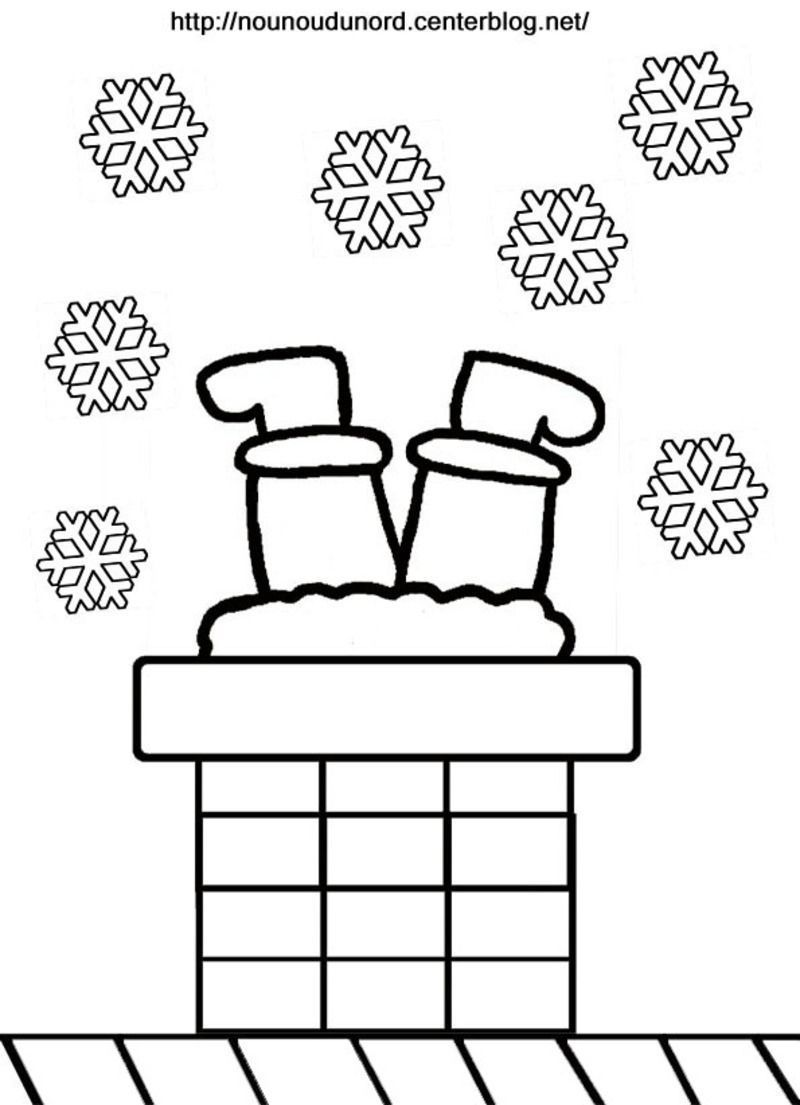 coloriage noel pere noel. Black Bedroom Furniture Sets. Home Design Ideas