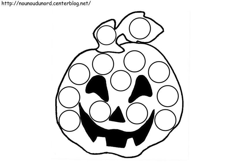 Coloriage halloween a gommettes - Coloriage a gommette ...