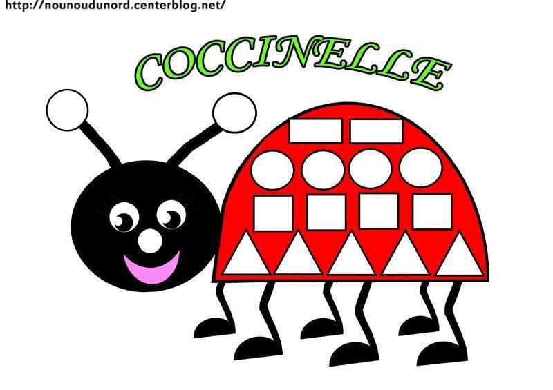 Coccinelle Pour Coloriage.Coloriage A Gommettes La Coccinelle Dessine Par Nounoudunord