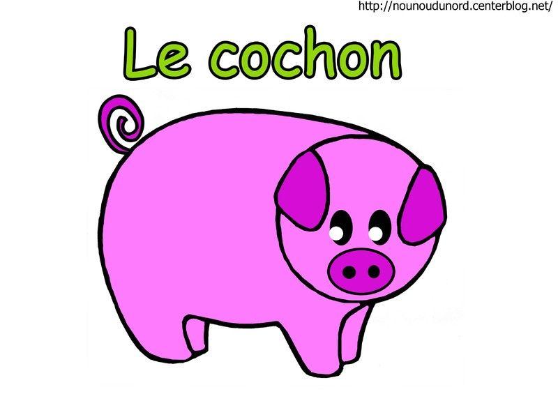 Cochon en coloriage gommettes en couleur - Image de cochon a imprimer ...