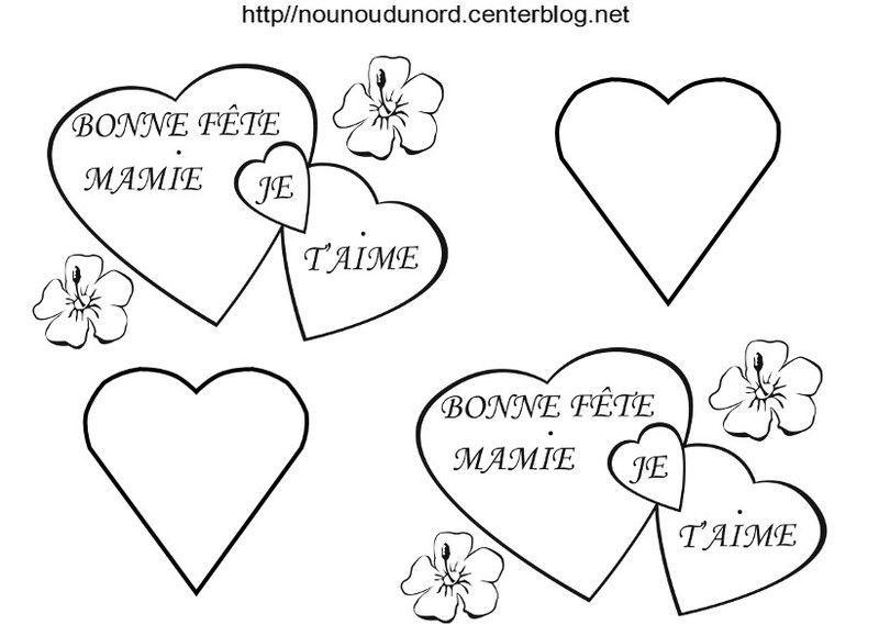 Coloriage Coeur Mamie.Coeur Bonne Fete Mamie Coloriage Et En Couleur