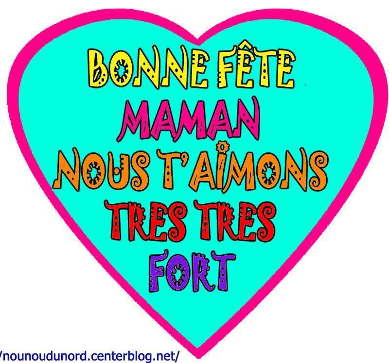 message coeur fête pour la fête des mamans