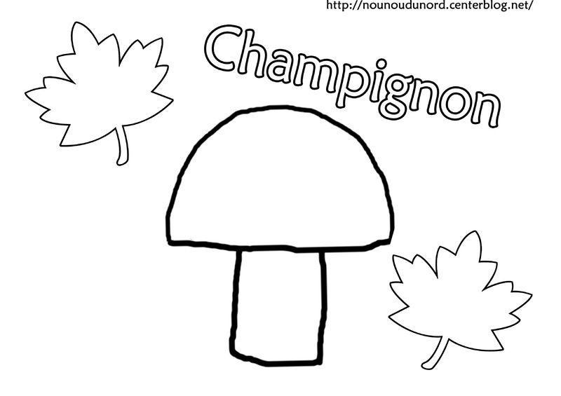 Coloriage automne champigon - Dessiner un champignon ...