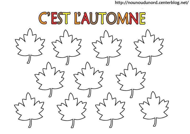 Coloriage automne arbe - Feuille automne dessin ...