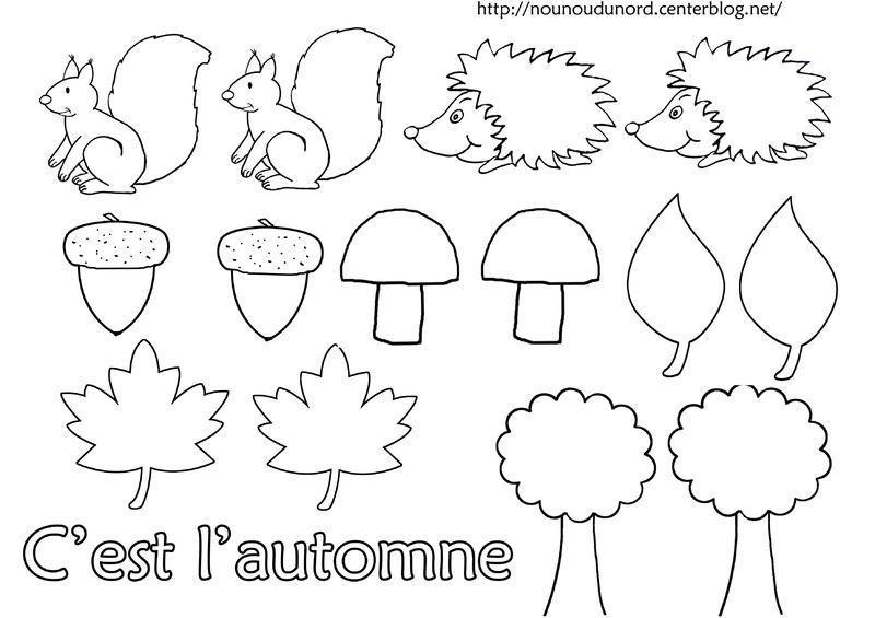 Coloriage automne ecriture gommette - Arbre d automne dessin ...