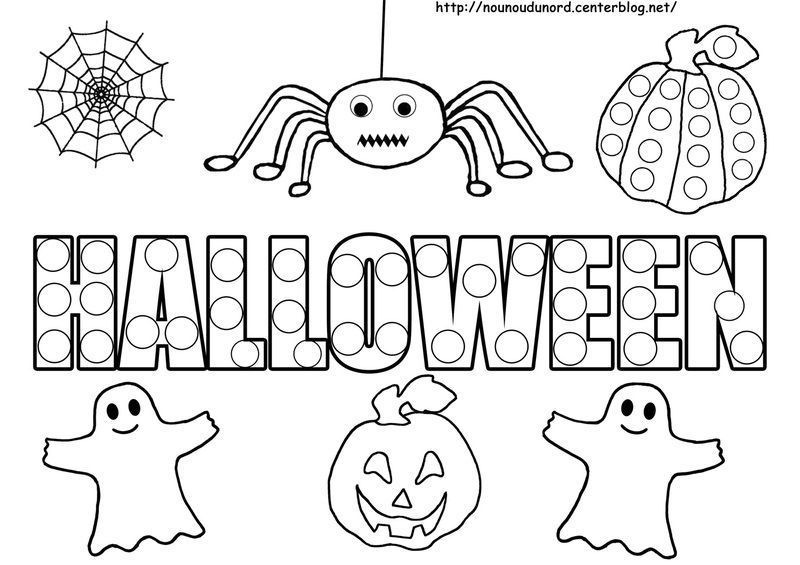 Coloriage tableau halloween - Dessin halloween facile ...