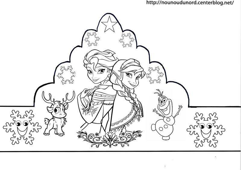 Couronnes reine des neiges en couleur coloriage gommettes - Couronne de noel a colorier ...